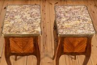 Pair of French Walnut & Kingwood Bedside Cabinets (2 of 8)