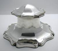 Superb Large 1915 Solid Sterling Silver Antique Capstan Inkwell, Martin Hall & Co. English Hallmarked (3 of 12)