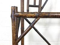 Late Victorian Antique Bamboo Hall Stand with Mirror (3 of 7)