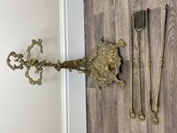 Victorian Brass Hunting Dog Fire Companion Set (28 of 40)