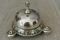 Rare Wilsons Patent 1884 Brass Counter Bell by William Tonks & Sons (4 of 8)