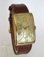Gents large 14ct gold Art Deco Mobile watch (2 of 5)