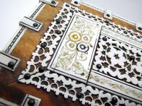 Quality Victorian Anglo Indian Antique Vizagapatam Trinket Jewellery Box Casket, 19th Century India (9 of 11)