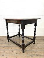 18th Century Antique Oak Side Table (6 of 11)
