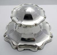 Superb Large 1915 Solid Sterling Silver Antique Capstan Inkwell, Martin Hall & Co. English Hallmarked (2 of 12)