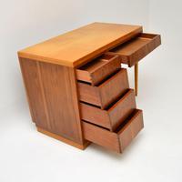 1950's Vintage Walnut & Satin Birch Desk (7 of 11)