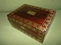QUALITY Inlaid Regency Rosewood Jewellery Box + Tray. c1830 (5 of 15)