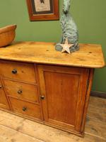 Victorian Rustic Antique Pine Sideboard Kitchen Unit (21 of 22)