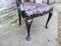Stylish Regency Chinoiserie Lacquered Desk Chair (5 of 7)