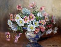 """Oil on Canvas """"A Floral Study"""" by Marion Broom (4 of 4)"""