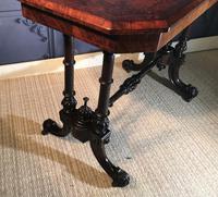 Victorian Burr Walnut Stretcher Table (8 of 9)