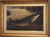English Naive School Oil of a Pike (4 of 6)