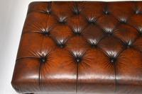 Antique Victorian Style Deep Buttoned Leather Stool (8 of 8)