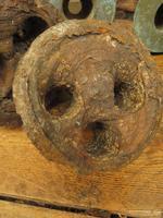 Antique Maritime Ship Deadeye Rigging Blocks & Scupper Ports, Old Wreck Salvage (7 of 13)