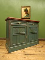 Antique Painted Bohemian Blue Edwardian Sideboard (18 of 22)