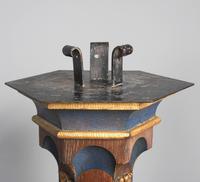 Pair of Gothic Revival Oak Standard Lamps (2 of 12)