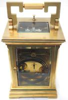 Superb Large Antique French 8-day Striking Carriage Repeat Feature Clock c.1880 (11 of 13)
