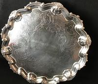 Old Sheffield Plate Silver Plated Salver (3 of 5)
