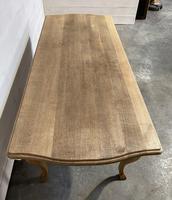 Bandy Leg French Bleached Oak Farmhouse Table (9 of 15)