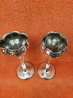 Pair of Antique Sterling Silver Hallmarked Tulip Vases 5 Inch 1904 Joseph Gloster (2 of 11)