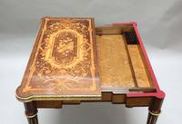 French Louis XVI Style Marquetry Card Occasional Table (5 of 13)