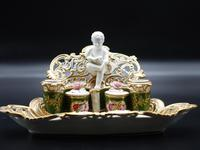 Very Fine & Rare Late 19th Century Continental Porcelain Encrier (5 of 6)