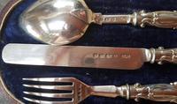 Cased Sterling Silver Christening Set - 1860 (3 of 4)