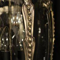 French Pair of Silver Gilded Bronze Lanterns (6 of 8)