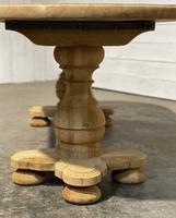 French Bleached Oak Monastery Dining Table (18 of 30)