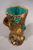 Mid 19th Century Lica Pottery Stick Stand in the Form of a Tree Trunk (4 of 4)