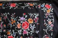 Early 19th Century Chinese Embroidered Silk Piano Shawl (7 of 15)