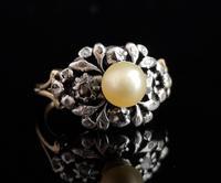 Antique Georgian Diamond & Pearl Ring, 18ct Gold (11 of 14)
