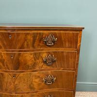 Stunning Georgian Mahogany Antique Serpentine Front Chest of Drawers (7 of 10)