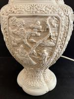 Pair of Plaster Moulded Lamp c.1930 (3 of 5)