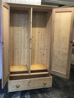 Excellent Victorian Vintage Stripped Pine Wardrobe (2 x Sections & Large Drawer) (4 of 9)