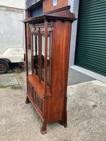 Antique Arts & Crafts Carved Walnut Bookcase (3 of 13)