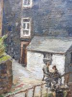 Oil on Canvas Cornish Harbour View Listed Artist Dora Johns 1966 (8 of 10)