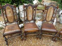 Dining chairs. set of 6, Tudor style (7 of 7)