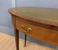 Edwardian Oval Inlaid Mahogany Writing Table (4 of 13)