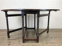 Antique 19th Century Oak Gateleg Dining Table (2 of 10)