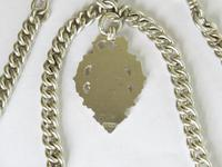 Antique Silver Double Pocket Watch Chain (3 of 5)