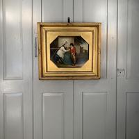 Antique Georgian oil painting study of mother and son at The Old Manor, Abbots Morton, Worcs (2 of 10)