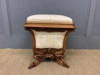 Victorian Walnut Stool / Work-Box (3 of 12)
