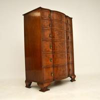 Large Antique Burr Walnut Chest of Drawers (9 of 11)