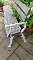 19th Century Cast-iron and Oak Garden Bench (5 of 6)