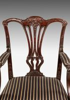 Chippendale Style Mahogany Elbow Chair (4 of 5)
