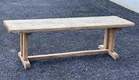 Large French Rustic Bleached Oak Farmhouse Dining Table (29 of 36)