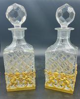 Pair of French Ormolu Cut Crystal Decanters Whisky & Cognac (6 of 8)