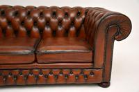 Antique Victorian Style Leather 2 Seat Chesterfield Sofa (7 of 13)