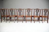 Set of 6 20th Century Mahogany Chippendale Style Dining Chair (11 of 13)